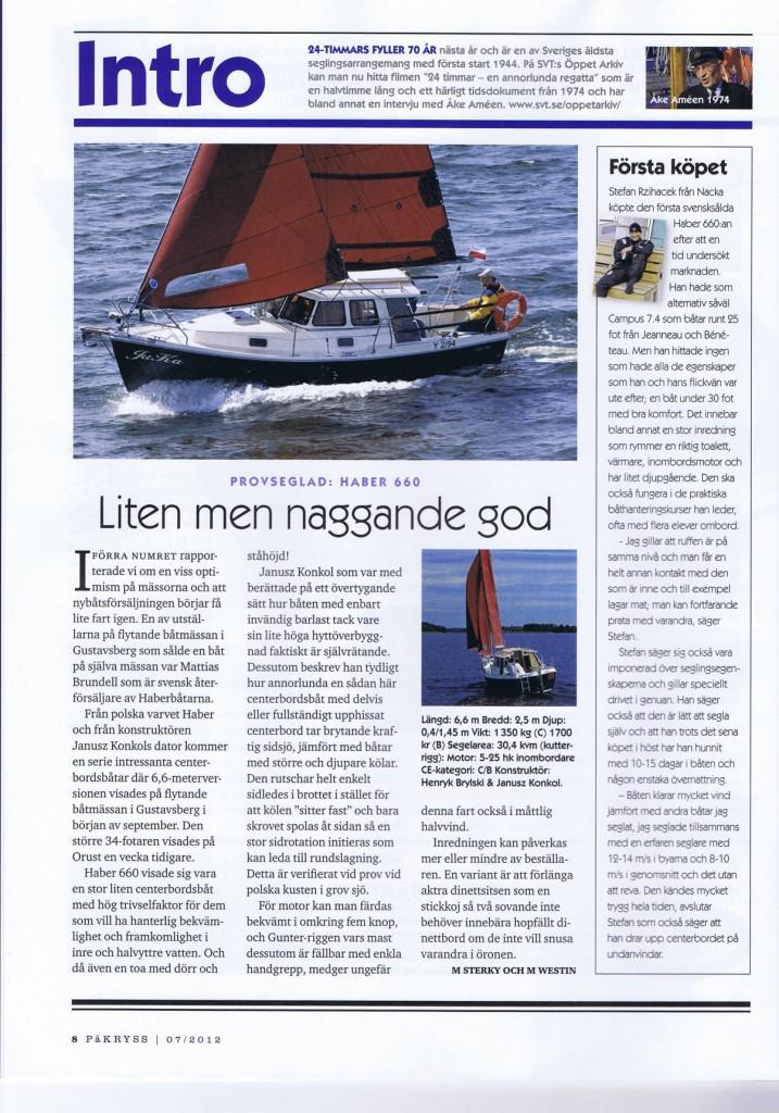 Recension i tidskriften På Kryss 07 2013